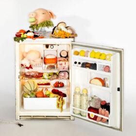 Madame Tricot gestrickter Kühlschrank