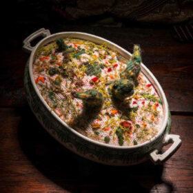 Madame Tricot das gestrickte Festmahl Schildkrötensuppe
